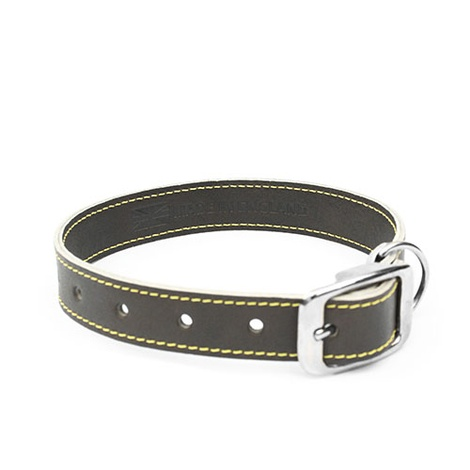 Grey Leather Dog Collar 2