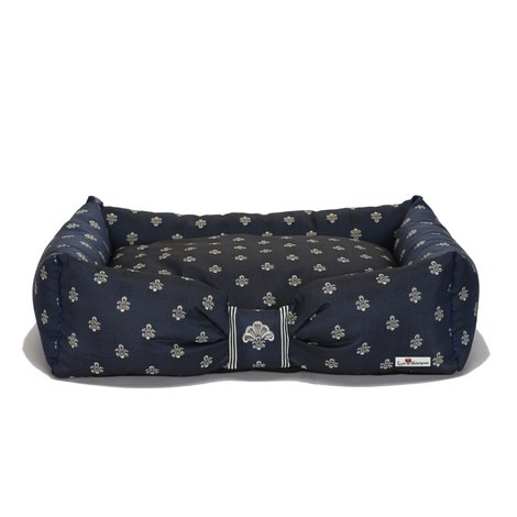 Cantatis Dog Bed - Inky Blue & Ivory 2