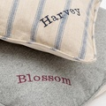Herringbone Tweed Pillow Dog Bed 3