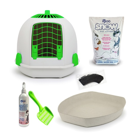 The Igloo' for Cats Starter Kit – Aurora Green