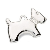 Hamish McBeth - Silver Dog-Shaped Tag