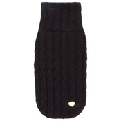 Chihuy - Black Braided Luxury Dog Sweater
