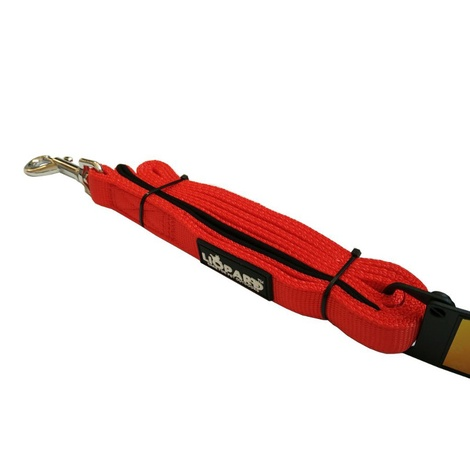 Liopard Padded Nylon Dog Lead – Red
