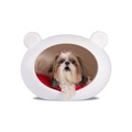 Small White Dog Cave with Red Cushion 2