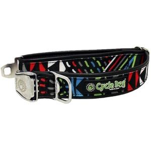 Black-Multi Modern Art Dog Collar