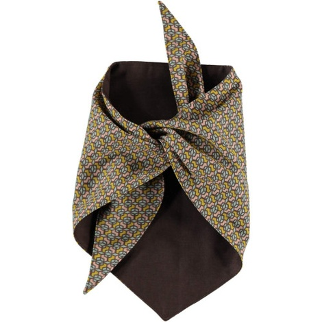 Cubes Dog Bandana – Ceylon Pastel & Brown