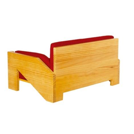 Retro Pine Dog Sofa 3