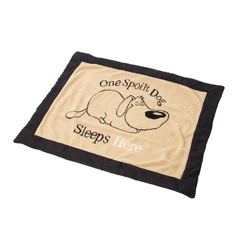 One Spoilt Dog Blanket – Beige