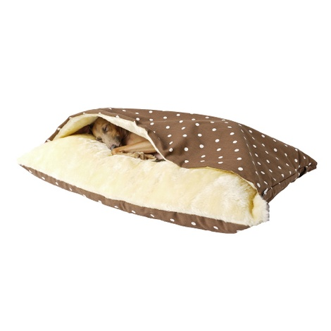 Snuggle Bed - Dotty Chocolate 2