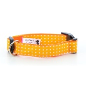 Pet Pooch Boutique - Yellow Polka Dot Dog Collar