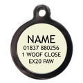 Polka Dot Pet ID Tag - Red 2