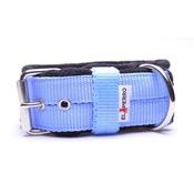 El Perro - 4cm Width Fleece Comfort Dog Collar – Baby Blue