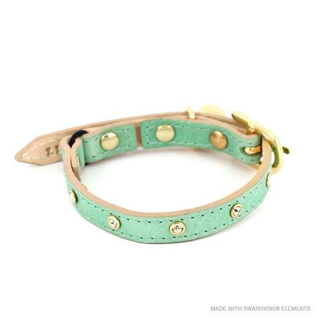 Baby Green Crystal Cat Collar 2