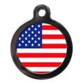 Stars & Stripes Flag Pet ID Tag