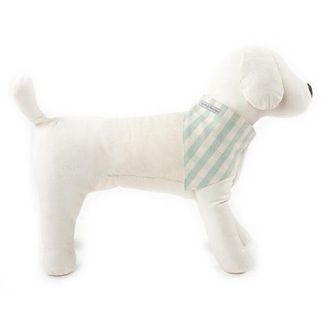 Mint Check Cotton Dog Neckerchief 2