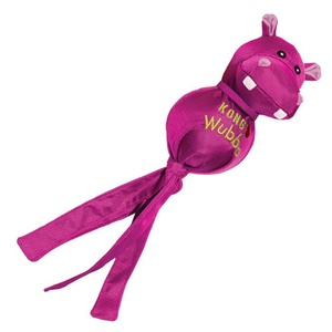 KONG Wubba Ballistic Friend Dog Toy - Hippo