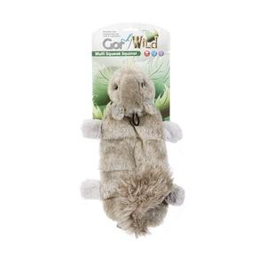 Gor Wild Multi-Squeak Dog Toy - Squirrel
