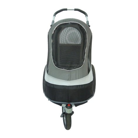 Sporty Black/Grey Buggy and Trailer 3