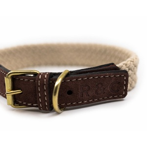 Rope collar (flat) - BROWN
