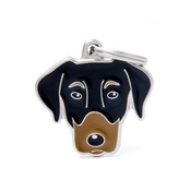 My Family - Doberman Engraved ID Tag