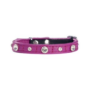 Comete Leather Cat Collar – Pink