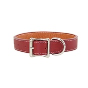 Auburn Leathercrafters - Tuscany Leather Dog Collar – Red