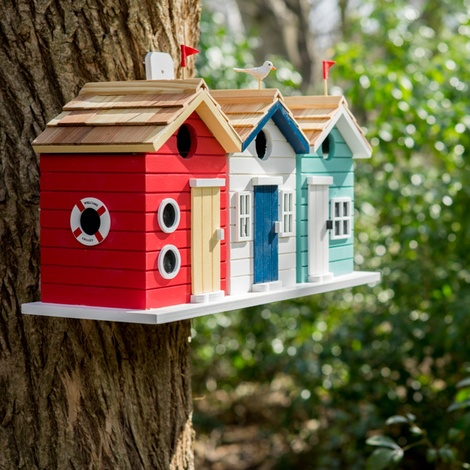 Beach Hut Birdhouse 2