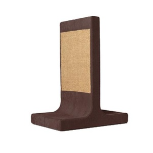 Scratching Post - Letter T - Brown