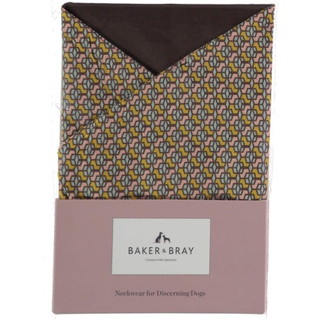 Cubes Dog Bandana – Ceylon Pastel & Brown 3