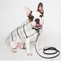 Luxury Black & White Check Mohair Dog Coat 5