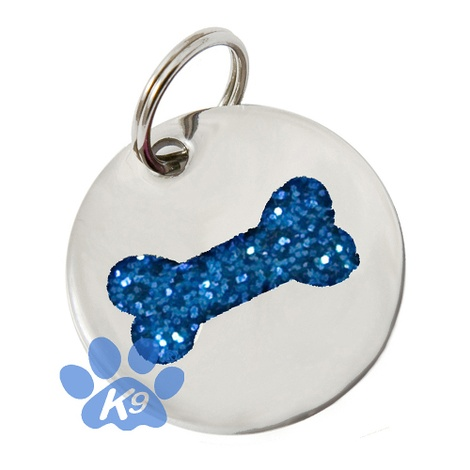 K9 Small Blue Bone Cat ID Tag