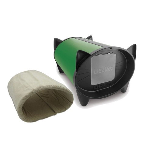 DezRez Premium Outdoor Cat House - Garden Green