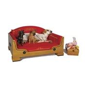 Katalin zu Windischgraetz - Classic Walnut & Gold Dog Bed