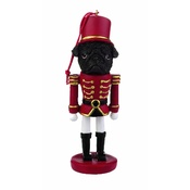 NFP - Black Pug Nutcracker Soldier Ornament