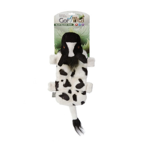 Gor Wild Multi-Squeak Dog Toy - Cow