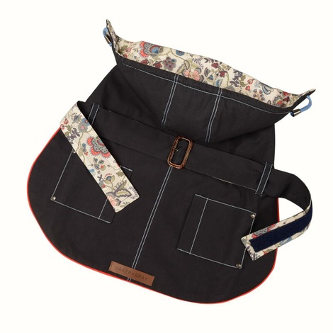 Hampstead Dog Hoodie – Navy & Liberty Mabelle 2