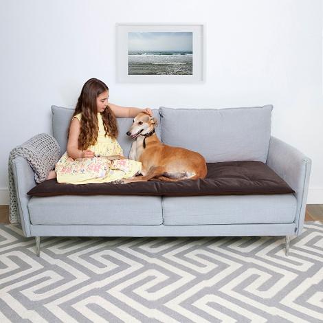 Plush Velvet Sofa Topper - Mole 2