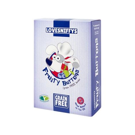 Grain-free Fruity Buttons Dog Bites (3 x 100g)