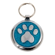 Tagiffany - Shimmer Azure Blue Paw Pet ID Tag