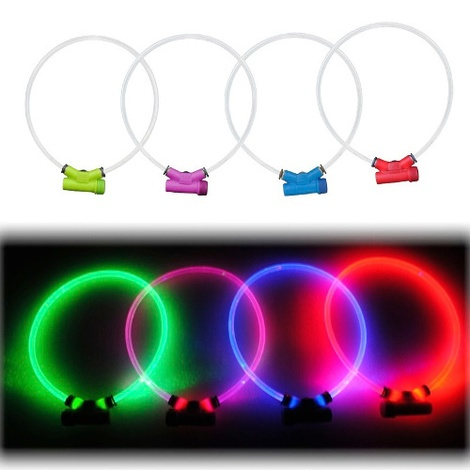 Lumitube Light Up Dog Collar - Red 3