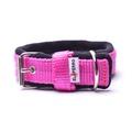 2.5cm width Fleece Comfort Dog Collar – Fuchsia Pink