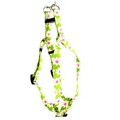Yellow Dog - Green Daisy Step-In Dog Harness