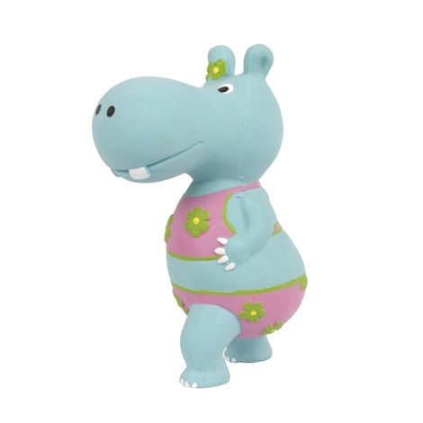 Hippo Squeaky Dog Toy