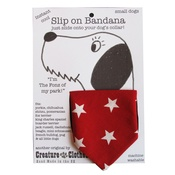 Creature Clothes - Slip-on-Bandana Red Star Print