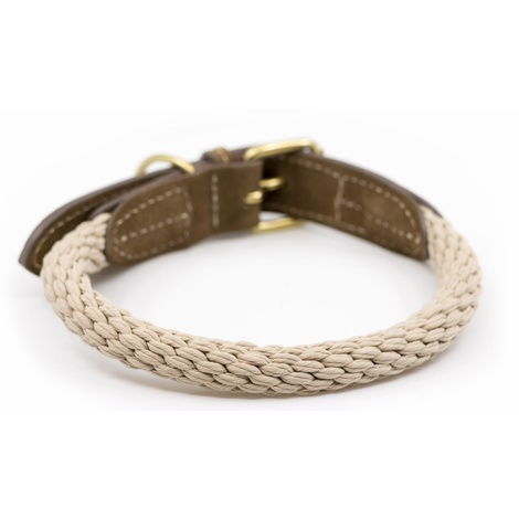 Rope collar (Braided) - Ivory 3
