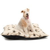 Mutts & Hounds - Grouse Linen Pillow bed