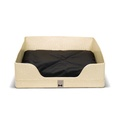 Lounge bed Rectangle in Beige Croc
