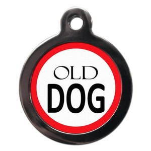 Old Dog Pet ID Tag