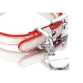 Polo Collar White/Red 2