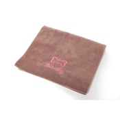 PetsPyjamas - Personalised Chocolate Bone Dog Blanket - Italic font